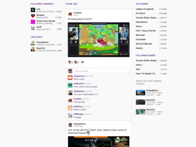 "Twitch anuncia Pulse, su propio feed de noticias ""a lo Facebook"" para convertirse en red social"
