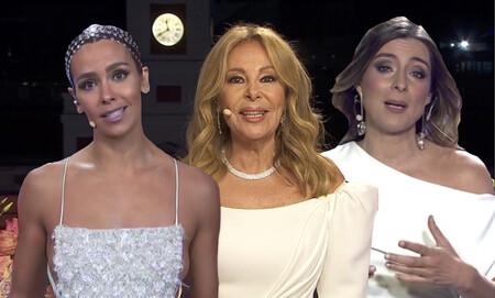 Todo sobre los vestidos y los momentazos de Cristina Pedroche, Ana Obregón, Anne Igartiburu, Sandra Barneda y del resto de los presentadores en las Campanadas