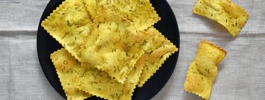 Cómo hacer crackers con placas de canelones: la receta más fácil (y sorprendente) para un picoteo crujiente con pasta