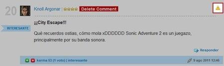 Uso del botón de reporte de comentario inadecuado en VidaExtra