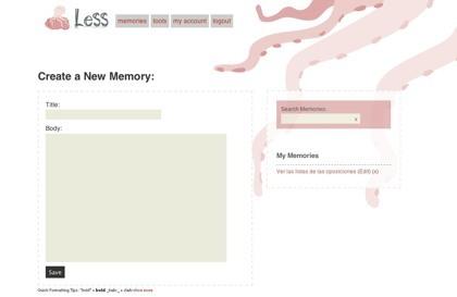 Less memories, anotando nuestras memorias para acceder a ellas más tarde