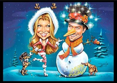 Para tarjeta de navidad, me quedo con la de Josh Duhamel y Fergie