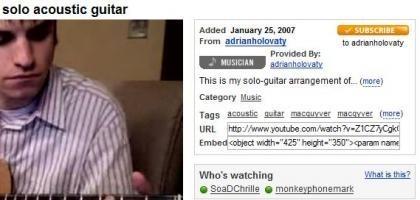 Active Sharing de Youtube