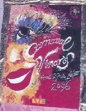 El cartel del Carnaval de Vinaròs en azúcar