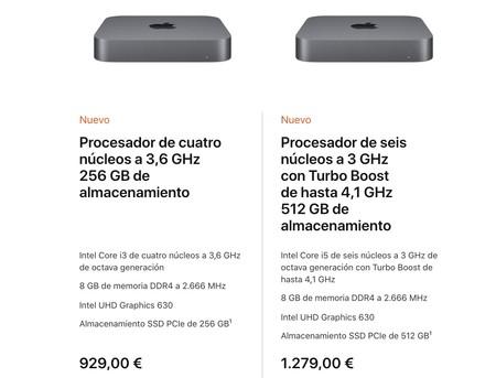 Mac Mini Precios