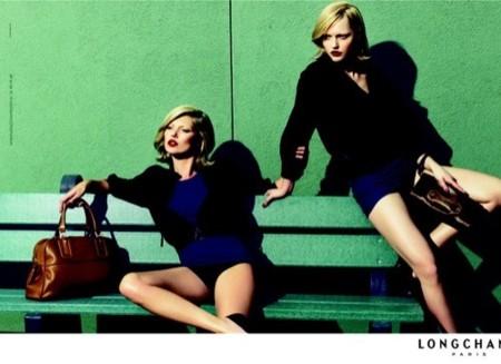 Kate Moss y Sasha Pivorova para Longchamp
