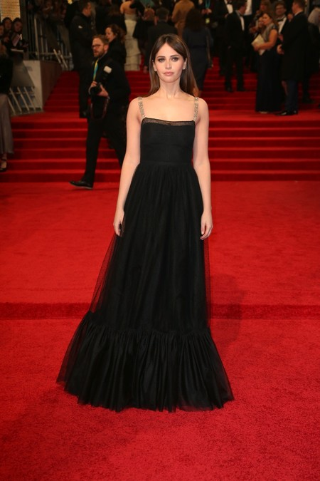 Felicity Jones Christian Dior Bafta 2017