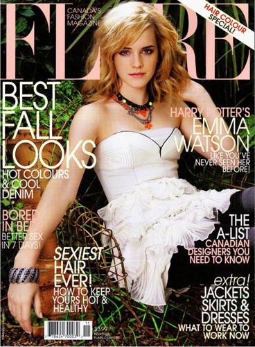 Emma Watson en la portada de la revista Flare
