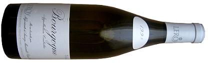 Leroy Bourgogne Blanc 1998 Botella