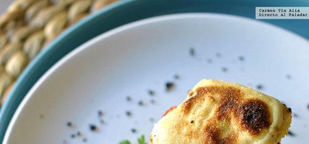 Timbal de bacalao con pimientos caramelizados. Receta