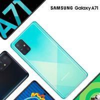 Samsung Galaxy A71: pantalla con agujero para un móvil bonito y con cuatro cámaras traseras