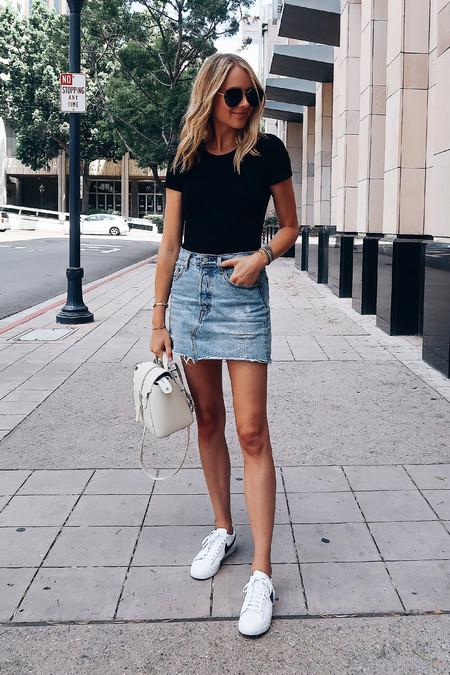 Minifalda Denim Combinarla Verano 05