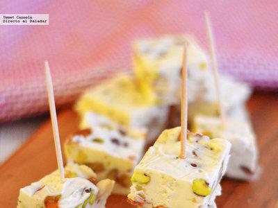 Turrón de queso con frutos secos. Receta