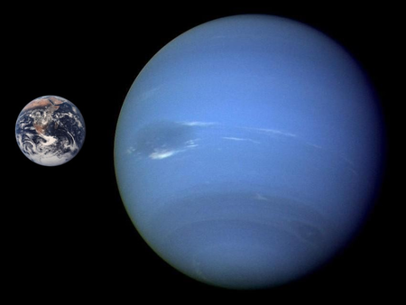 Neptune Earth Comparison