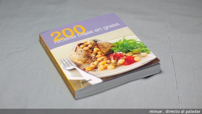 Portada libro 200 recetas bajas en grasa