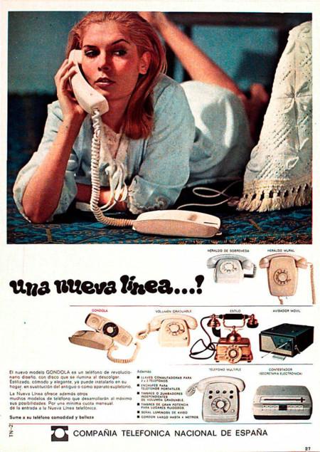Anuncio teléfonos años 60