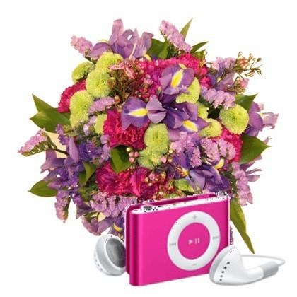 Regala flores con iPods