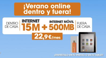 Internet dentro y fuera de casa por 22.9 euros mensuales con Euskaltel