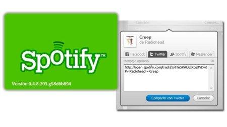 Compartir con nota, nueva funcionalidad de Spotify