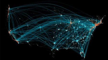 La imagen de la semana: Radiografía de los viajes en EEUU de la mano de FourSquare
