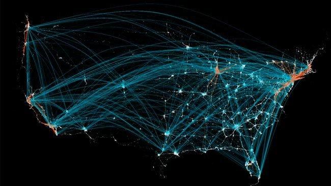 FourSquare nos revela los hábitos viajeros de los ciudadanos de los Estados Unidos