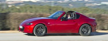 Por fin probamos el Mazda MX-5 RF, un deportivo que transmite felicidad y conquista con su silueta