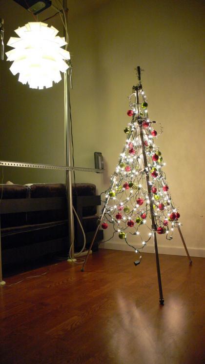 Tres árboles de Navidad low cost