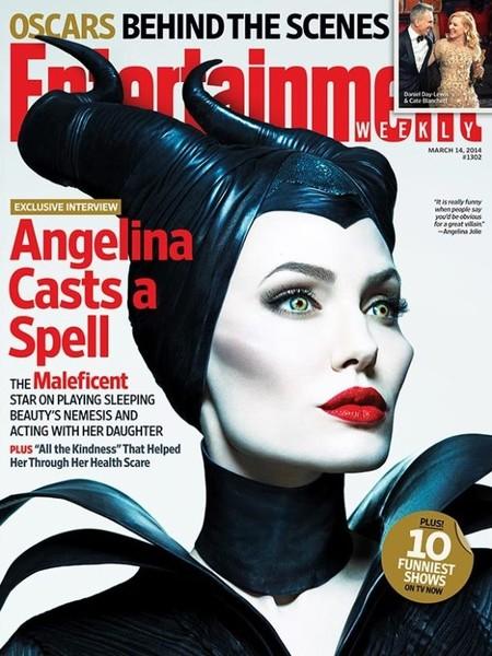 Para mala maléfica, Angelina Jolie en la portada de Entertainment Weekly