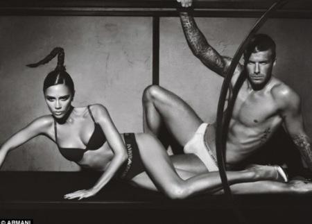 Emporio Armani Underwear, campaña Otoño-Invierno 2009/2010 con los Beckhams II