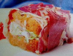Tarta de jamón ibérico