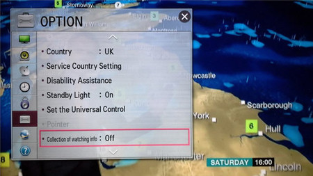 LG y la recopilación de datos en su televisores Smart TV