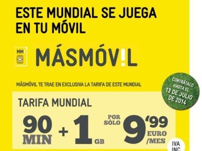 MÁSMÓVIL estrena tarifa de 90 minutos y 1GB por 9,99 euros
