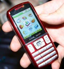 Móvil dual GSM y WiFi de WNC