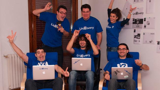 Equipo de Linkovery en sus instalaciones de Zaragoza