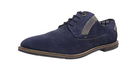 Bugatti u6536-3 zapatos caballero azul cuero talla 44