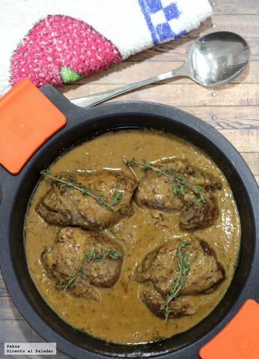 Receta de codillo de cerdo a la mostaza con jugo de carne