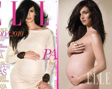 Paz Vega embarazada y desnuda para Elle