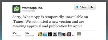 Apple retira temporalmente WhatsApp de la App Store [Actualizado]