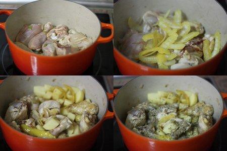 Pollo al limón. Pasos
