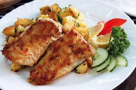 Pescado con puré de patata y All-Bran® Plus