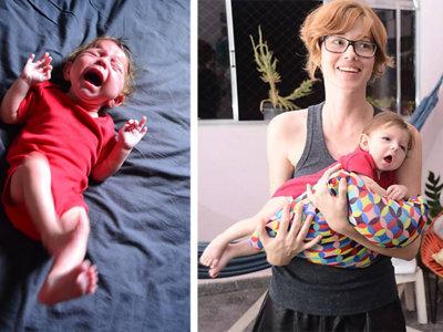 Los padres de una bebé con parálisis que solo se calma en brazos buscan gente que les ayude a mecerla