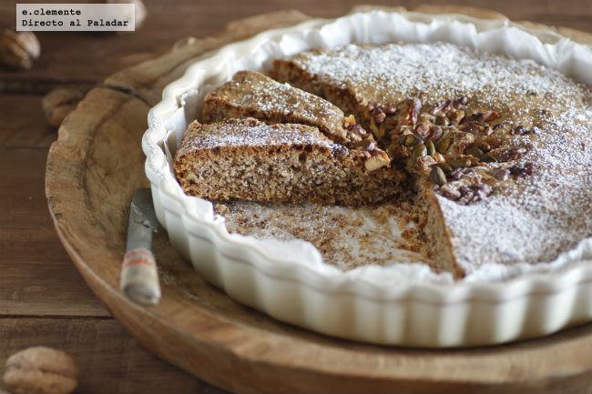 Torta de nuez y pistachos