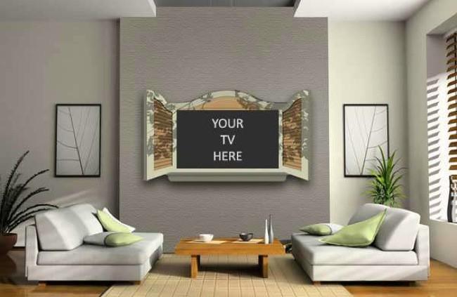 Originales marcos que convierten tu televisor en una ventana - Televisor para cocina ...