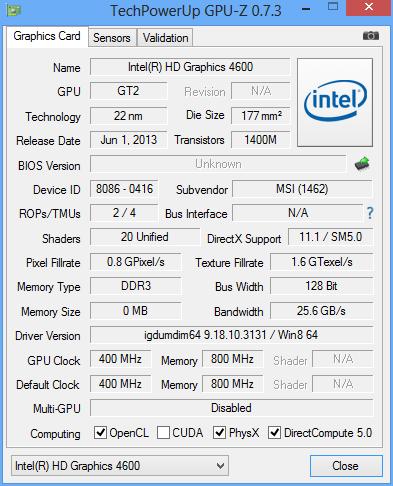 MSI GS70 CPUz