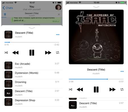 Poca broma con el nuevo reproductor de Telegram: puede ser un auténtico servicio musical en la nube
