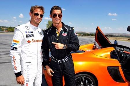 Jenson Button y Cristiano Ronaldo