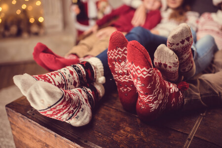 Navidad Familia Calcetines