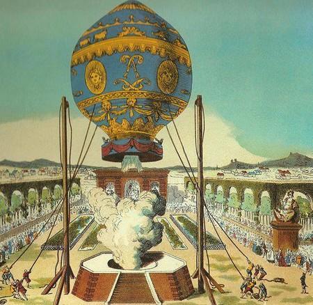 Así eran los primeros seres humanos (y animales) que lograron violar las leyes de la gravedad en globo