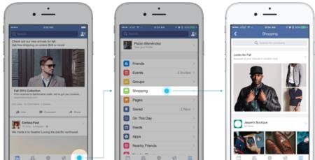 Facebook prueba una sección de compras en su aplicación oficial