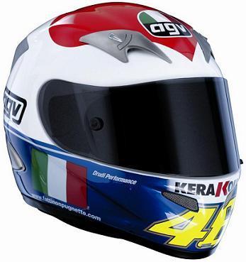 AGV Ti-Tech Cuore, el casco de Rossi en Mugello